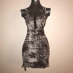 💎 Guess Newspaper Print Mini Dress 💎